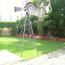New 8ft Tall Ornamental Windmill Lawn Yard Speed Iron Garden Weather Vane Us