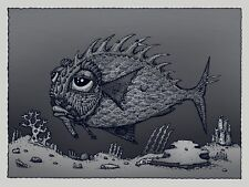 """David Welker """"Lonious Fish"""" Silver Variant Poster Art Print Edition of 150"""