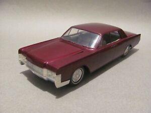 Vintage AMT 1968 Lincoln Continental 4 Door Built Kit, Burgundy Met., Excellent!