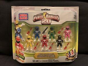 Mega Bloks 20th Anniversary Power Rangers Collector Set #05836 New / Sealed