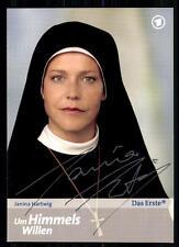 Janina Hartwig Um Himmels Willen Autogrammkarte Original Signiert ## BC 9146