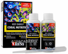 RED SEA REEF ENERGY A & B COMPLETE 2 PART FORMULA 2X 100ml MARINE REEF FISH TANK