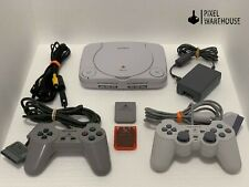 Sony Playstation 1 PSOne Console DualShock Memory Bundle Clean & Tested
