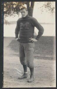 1910 WILLIAM EDMUNDS Michigan Football Star Vintage Lyndon Photo