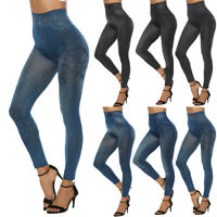 Femme Skinny Jeans Look Yoga Leggings Casual Mode Taille Hauts Crayon Pantalons