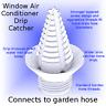 Air Conditioner (window A/C) Drain Condensation Drip Catcher to Garden Hose Conn