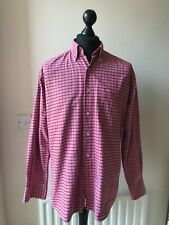 Pierre Cardin Medium red Checked Long Sleeved Button Down Collar Shirt Cotton