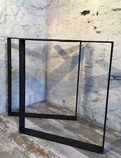 2 Barra Piatta fatti a mano Hoop U in acciaio grezzo Grande tavolo da pranzo gambe industriale