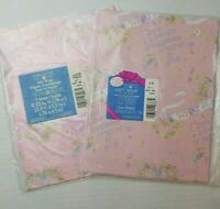 2 Vintage Baby Girl Wrapping Paper American Greetings What Is A Girl Pink Floral