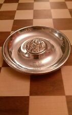 Mappin & Webb triple deposit silver plate 1939 Pin coin dish St Christopher