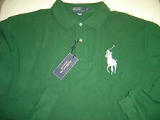 BIG MENS RALPH LAUREN HUNTER W/SILVER LG PONY L/S MESH POLO SHIRT SIZE 5X  $95