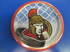 "Ottawa Senators NHL Pro Hockey Sports Banquet Party 9"" Paper Dinner Plates"