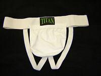 Hommes Blanc Coton Lycra Suspensoir Large (Prendra Coffret)