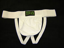 Vasectomy white cotton lycra support in size large