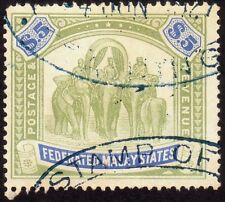 /FMS 1925 $5.00 w.MSCA Isc#79 fiscal used-@TE50