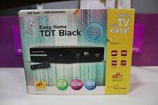 SINTONIZADOR TV TDT EASY HOME DVB-T BLACK SCART USB COMO NUEVO