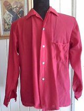 rockabilly retro shirt vintage MATE brand BRI NYLON red 116cm chest no size tag
