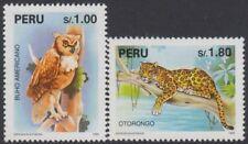 Perù 1047/48 1995 Specie in estinzione fauna gufo otorongo MNH