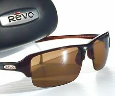 NEW* REVO ABYSS in Brown w POLARIZED Brown Terra Lens Sunglass 4041x 02 BR