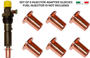 3919358 7MM to 9MM Injector Adapter Sleeve For Dodge Cummins 5.9L - Set Of 6