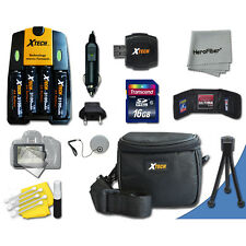 Ideal Kit 16GB Memory + Bts + Case + More for Fuji FinePix S8500 Digital Camera