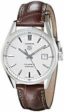 Tag Heuer Men's WAR211B.FC6181 'Carrera' Automatic Brown Leather Watch