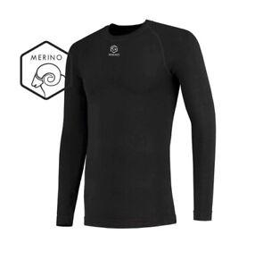 Mens FUTURUM 4Seasons Base Layer Merino Warm Long Sleeve. Black. Size S/M.