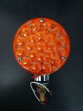 12 Volt Round 1 Post LED Indicator Light Amber to suit WS, Kenworth or Mack