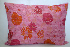 "Ethnic Indian Handmade Kantha Stitch Pillow Sham Cushion Pillow Cover 28""X20"""