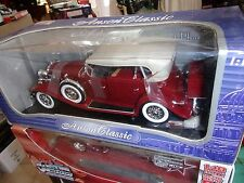 CADILLAC SPORT PHAETON ROSSO 1932 1/18 ANSON NUOVO IN SCATOLA