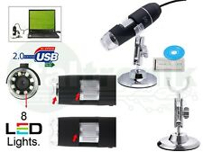 MICROSCOPIO USB DIGITALE 500X MAX PC NOTEBOOK FOTO VIDEO 8 LED STAFFA 2.0 MPX CD