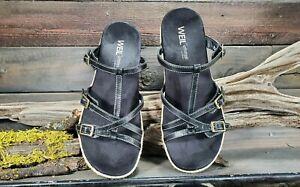 Dr Andrew Weil Zeal Womens Sz 9 Orthopedic Black Comfort Buckle Slide Sandals
