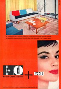 Knoll and Drake Mid Century Modern Living Room Ladislav L Rado 1955 Magazine Ad
