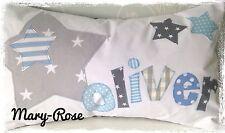 Personalised Boys Cushion Handmade New Baby, Birthday Gift. Christening STARS