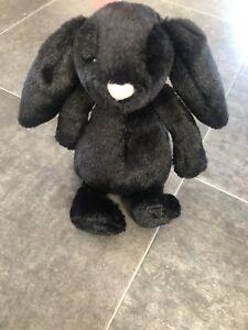 "Jellycat Small Treacle Bashful Bunny - 7"" - Retired - Black Rabbit"