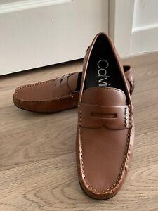 CK CALVIN KLEIN IVAN 34F9467 Men's Shoes EU43 US10 BNWOB Light Brown