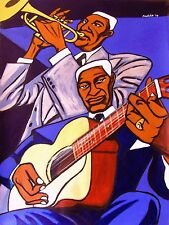 LEADBELLY PRINT poster bunk johnson folkways blues cd 12 string guitar trumpet