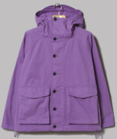 Albam GD Military Hooded Parka Purple Mens Small  *REF165