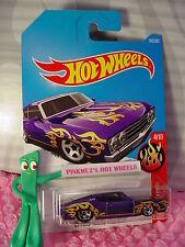 '69 FORD TORINO TALLADEGA #182✰Purple; 5sp✰HW FLAMES✰2017 i Hot Wheels Case H/J