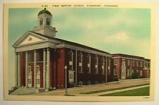 Kingsport TN First Baptist Church Postcard ca 1940's-1950's