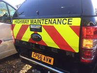 Ford Ranger, Chevron Chapter 8 Reflective Vinyl Kit Highway Maintenance