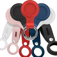 For Apple AirTag Silicone Loop Holder Keyring Location Tracker Carry Case Cover