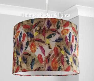 New multicolour Feathers 30cm Lamp Shade Pendant