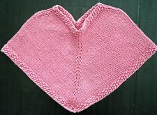 Girl's Hand Knit Poncho Sweater Size Small
