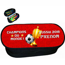 trousse à crayons école foot 2 étoiles champions du monde personnalise réf 282