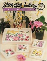 Stitch with Sudberry House ORCHIDS in Counted Cross Stitch Leaflet 65 1996