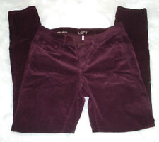 The Loft Purple Corduroy Pants Modern Skinny Stretch Size 6 Colored Pant 28 W