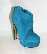 ALIAS MAE Brand Blue Suede Leather ANKLE BOOTS Size 5 NEW