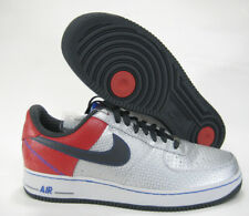 2006 NIKE AIR FORCE 1 PRM LOW SILVER RED BOBBY JONES SZ 12 315090-001 SIXERS AF1