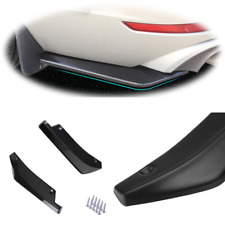 Car Anti-Scratch Rear Bumper Lip Wrap Diffuser Splitter Canard Universal 2PCS